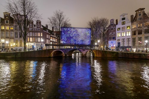 Starry Night op de Herengracht/Leidsegracht